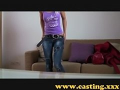 Casting - a beautiful angel gets a monster facial  free