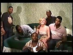 Black gangbang white  free