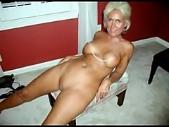 Hot sexy granny spreading  free