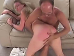 Young Teen ass spanked by old pervert