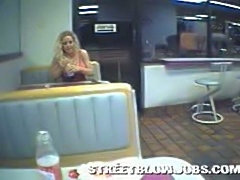 Movies of fast food bathroom blowjob