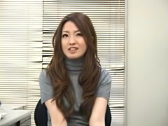 Japanese girl watches guy masturbate