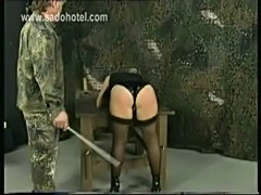 Angry drill instructor forces his horny secretary to bend ov free