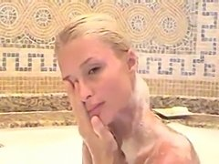Paris hilton takes her bath  free