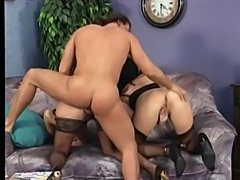 Mature Pair in Stockings Get a Cock to Fuck