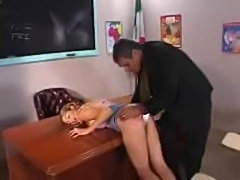 Teacher's Pet Spanked in the Classroom