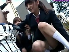 Sweet Japanese School Girl Learn to Handle Dicks