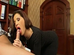 Two girls fucking in office with boss  free