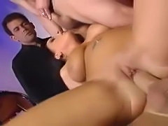 Italian chick gets raw in this threesome scene.