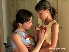 Teen Lesbian beauties excercises