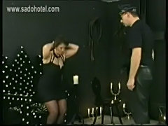 Naughty slave got pulled on her hair shout at and spanked on free