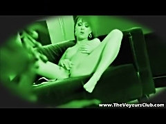 Girl masturbating on voyeur cam