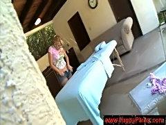 Lexi belle gets a massage  free