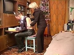 Russian mature mom with schoolboy  free