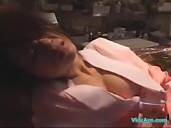Drunken Girl In Kimono Fucked By 2 Guys Facial Cum To Leg In The Restaurant