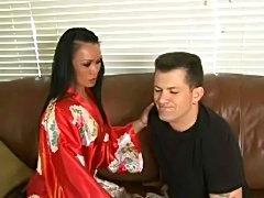 Mya Luanna gives erotic soapy massage