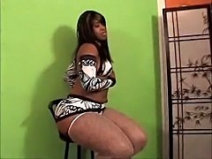 Latoya stripping and showing off her ass!