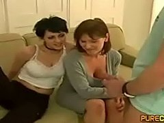 Mom and Daugther Handjob