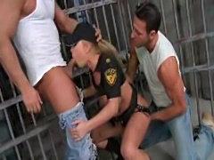 Rough prison sex 3way  free