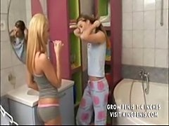 Lesbian teens with toothbrushes free