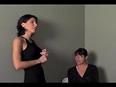 Lezley Zen lesbian scene with a secretary