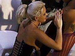 Horny lesbians licking