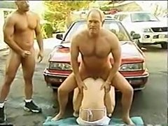 Babe carwash and car hood sex  free