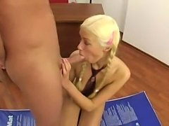 Teen with pigtails anal