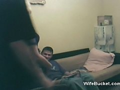 Funny threesome with my MILF neighbour