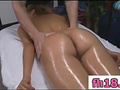 Voluptious 18 year old massage patient