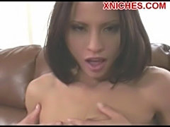 Jayna oso horny brunette fingering her wet pussy  free