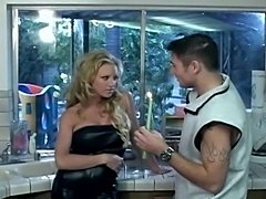 Slutty blonde housewife loves having all kind of homestuff inserted in her...