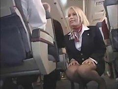 Flight attendant fucked ona plane