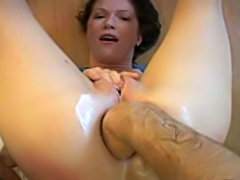 Her ass is fisted for the first time