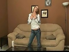 Nikki Sims aka Next Door Nikki topless with only some tape on her niplles