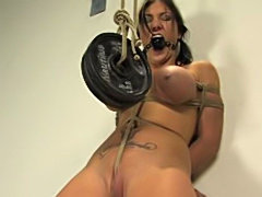Lady with big breasts likes bdsm
