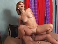 Fat dick fucking the hairy cunt milf