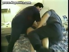 Blonde girl brutally fucked in bedroom by two guys  free