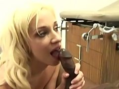 Petite Blonde doc Jada give hot treatment to lucky guys BBC
