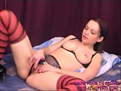 Two dildos in her fuckhole are just enough  free