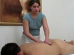 Chubby Women Gives Hard Cock Massage And Handjob