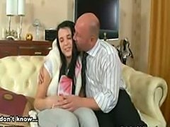 Young Innocent Teen Konnie seduced first time sex with Old Teach