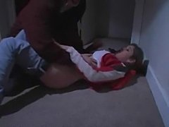 Teen voilated & humilated by maniac at basement