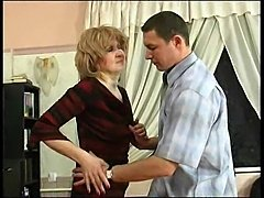 Mature blows him and rides him