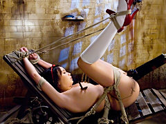 Brutal Hogtied Fetish Anal Asian Slave