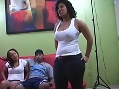 Jersey latinas exposed 3some action (exclusive)  free