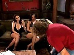 Ice La Fox &Gianna Michaels group fucking in a...Nice scene