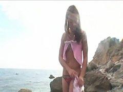 Very hot teenie cum by the sea  free