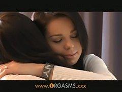 Orgasms - brunette teen lesbians  free