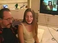 Aurora Snow's first scene in porno.